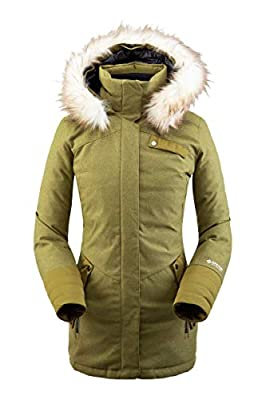 Spyder Women's Metro Gore-Tex Infinium Down Parka – Ladies Full-Zip Hooded Winter Jacket