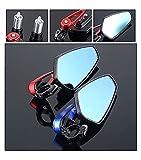 FAFAFA Espejo de la Motocicleta 22 mm Manillar Extremo retrovisor Espejo para Yamaha Raptor 700 Xmax 300 Cygnus 125 Tenere 700 XVS 650 Raider Compatible con Motocicleta Espejo (Color : Red)