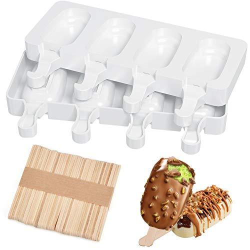 Calidad fiable: los moldes de helado JUMKEET están hechos de silicona de grado alimenticio de primera calidad, sin BPA, lo que puede garantizar que después de un uso repetido, la silicona no se volverá amarilla, y absolutamente sin olor extraño, por ...