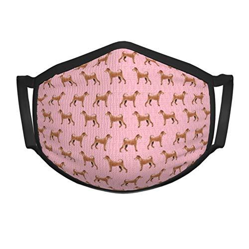 Qefgjbw Irish Terrier Dog Bufandas rosas Bufanda de cara de sol Bufanda de cara Bucles de oreja Cubierta de polaina de cuello, Bandana de oreja colgante