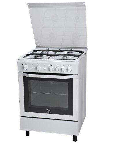 Indesit I6GG1F(W)/I Ofen und Herd, freistehend, Weiß (Herd, Weiß, Knöpfe, Drehknöpfe, Naturgas, 58 l, 58 l)