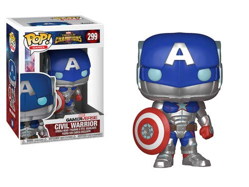 FUNKO Pop! Games: 26709 Marvel - Contest of Champions - Civil Warrior Figuras, Multicolor