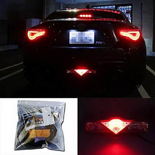 iJDMTOY Super Red 3rd LED Brake Light DIY Conversion Kit Compatible With Scion FR-S tC Subaru BRZ Toyota 86 Nissan 370Z Juke and more