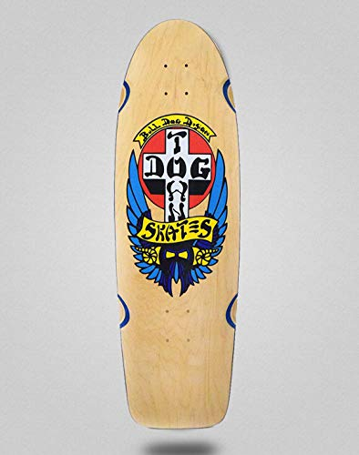 lordofbrands Monopatín Skate Skateboard Dogtown OG Bull Dog Classic Deck 10x30 Natural Blue Veneer