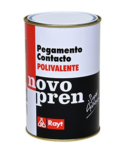 Rayt 004-09 Novopren Polivalente pegamento de contacto para multitud de materiales: estratificados plásticos, goma, corcho, moqueta y pavimentos de PVC, 1 litro