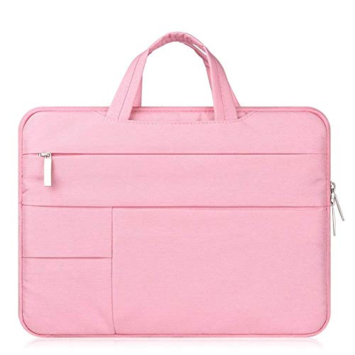"""Laptop Bag Fashion Multi-use Strap Laptop Sleeve Bag with Handle for 11"""" 13"""" 14"""" Inch Notebook Computer Waterproof Bag (Color : Blue Inset, Size : 13 inch) (Color : Pink, Size : ALL 15 Inch Laptop)"""
