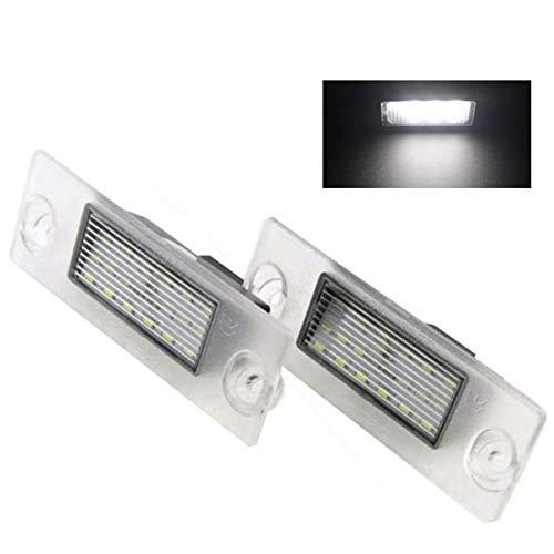 MuChangZi 2 Unids LED 12V Luces de matrícula del Coche para A/udi A4 B5 1995-2001 S5 B5 A3/S3/Sportback 1997-2003 A4/S4 Avant 1995-1999