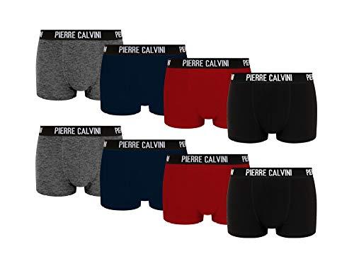 Pierre Calvini – Hipster Boxershorts, 8er Pack, Größe S, Bequeme und atmungsaktive Herren Unterwäsche, Baumwolle Unterhosen Männer in 8 Ausführungen, Basic Boxer (Mehrfarbig, S)