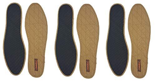 Unbekannt cinnea Semelles à la Cannelle, zimteinlegesohlen 3er Paquet Marron + Gratuit Green-Feet Cannelle Holz-duftkugel pour geruchs-Komfort en Votre Chaussures - Gris, 40 EU, Marron