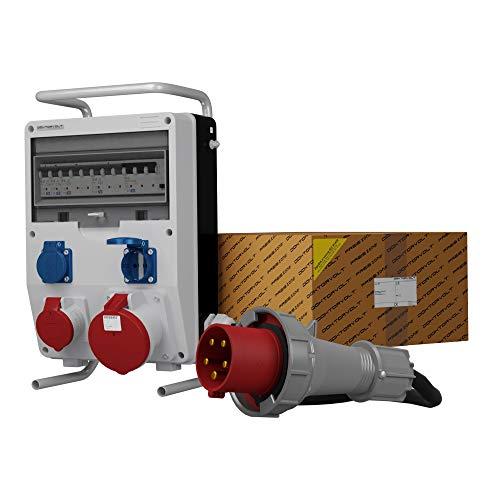 Stromverteiler TD-S/FI 1x63A 1x16A 2x230V SKHU Baustromverteiler mit Kabel Doktorvolt® 0304