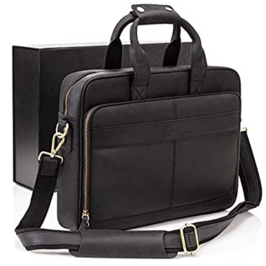 Luxorro Leather Briefcases For Men | Soft, Full...