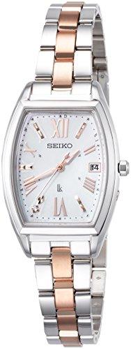 [セイコーウォッチ] 腕時計 ルキア ソーラー電波 ダイヤ入り白蝶貝文字盤 サファイアガラス SSVW117 レディース シルバー