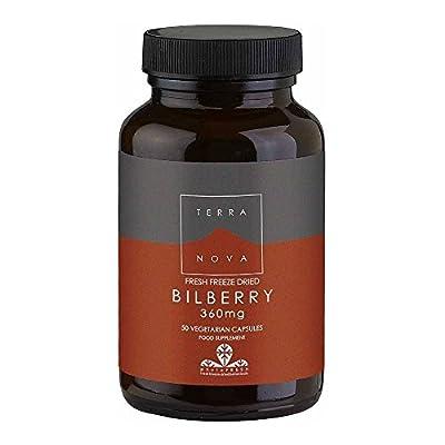 Terranova Bilberry, Fresh Freeze Dried, 360mg, 50 Vegetarian Capsules