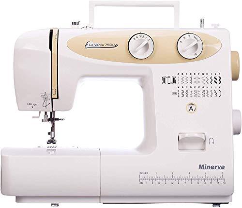 Máquina de coser Best Domestic Portable Euro Pro - Máquina de coser electromecánica blanca barata | Minerva La Vento 750LV 220 V