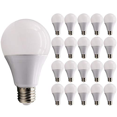 Mengjay®20x E27 LED-licht, 9W, E27 LED-licht, 6000 K koud wit, LED-lichtbron, vermindering van onderhoudskosten, voordelen en van de lage prijs door vermindering van de frequentie van de lampen vervangen ...