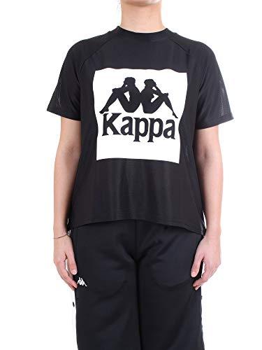 Kappa T-Shirt Mujer Negra 304I7W0 901 Authentic BAZY
