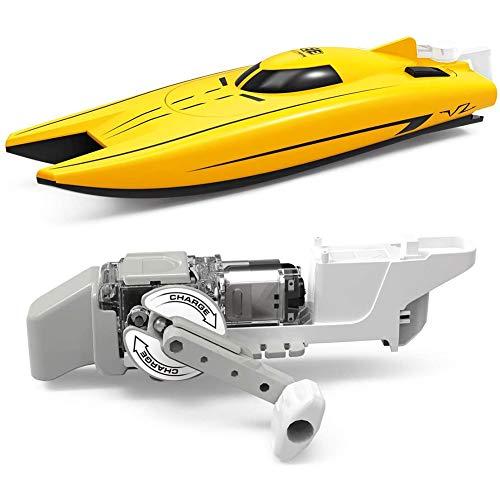 Elektisches Rennboot, Wind-Up Power Boot, Spielzeug Für Freischwimmbad, Mini-Boot,Generator-Aggregat, Wissenschaftskit,Babybadespielzeug & Kleinkinderspielzeug,Gelb
