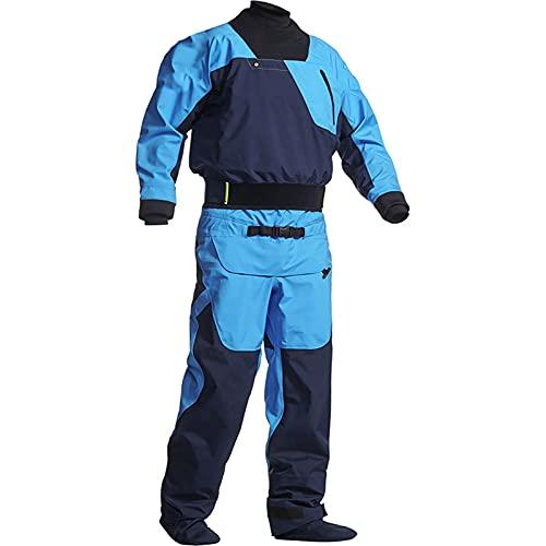 Dry Suits for Men in Cold Water Kayaking,Demanding Whitewater Paddling,River Snorkeling,Ocean Padding,Neoprene Diving/Zipper (Blue, XXL)