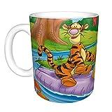 Winnie The Pooh - Taza de café para capuchino, café con leche o té caliente, 330 ml