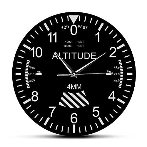 30 cm Reloj de Pared Altímetro, Reloj de Pared, Seguimiento, piloto, avión, medición de altitud, Reloj de Pared Moderno, Instrumento clásico, decoración del hogar, Regalo de aviación