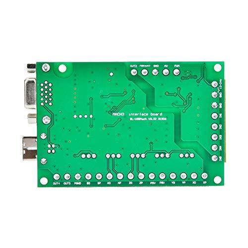 Control de movimiento tarjeta 5 ejes verde optoacoplador aislamiento con volante para control MACH3