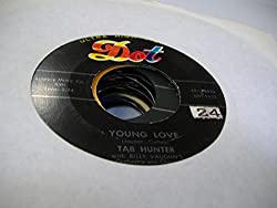 Tab Hunter with Billy Vaughn's Orchestra and Chorus 45 RPM Young Love / Red Sails in the Sunset