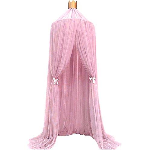 Gemini _ Mall® Bett Canopy Kinder Kuppel Moskito-Netz mit Spiel Zelt Gut für Baby Innen- und Außenbereich im Schlafzimmer., 240cm rose