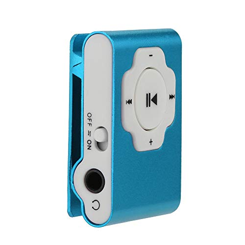 MP3 Player, Tuscom Mini Portable USB MP3 Player Support Micro SD TF Card 32GB, Clip Music Player, MP4 Player, Video/Media/Music Player for Sport and Music Lovers (Blue)