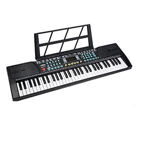 n.g. Piano electrónico de 61 teclas con soporte para partituras para niños, adultos y principiantes, fácil de aprender (color: rosa, tamaño: 76 x...