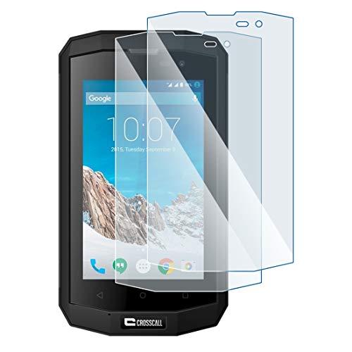 KARYLAX Protection d'écran Film Verre Nano Flexible Dureté 9H, Ultra Fin 0,2mm et 100% Transparent pour Smartphone Crosscall Trekker -S1 [Pack x2]