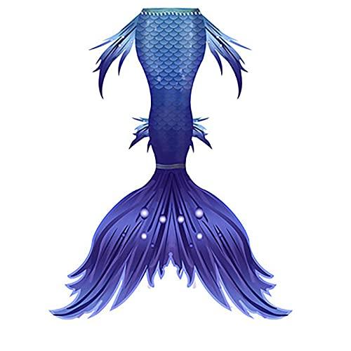 RTYU Schwimmbarer Meerjungfrauen-Schwanz-Badeanzug und Haifischflossen-Set, für Kinder, Meerjungfrauenschwanz zum Schwimmen, Badeanzug für Mädchen (Farbe: B)