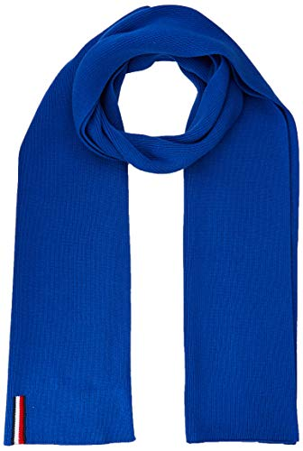 Tommy Hilfiger Herren TH RIB SCARF Schal, Blau (Blue Ckb), One Size (Herstellergröße:OS)