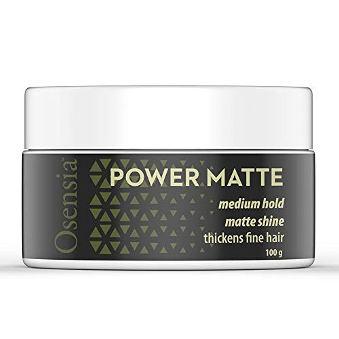 Matte Hair Clay – Water Based Hair Styling Gel with Matte Finish and Medium Hold for Natural Styling – Weightless Texture, No Residue, Thickens Fine Hair by Osensia, 3.4oz