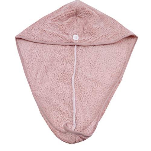 LWANFEI Absorbent Dry Hair Cap Haar schnell trocknend Handtuch Bad Dusche Turban Wrap Hut für Mädchen Frau Lady SPA Tool, Pink
