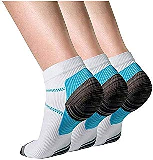 Compression Socks 7 Pairs for Women and Men Low Cut Running Gym Compression Foot