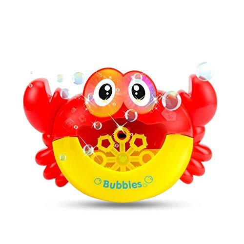 SYFO Juguete Cangrejo Burbuja máquina Juguetes Dibujos Animados bebé baño Ducha Juguete música automático Burbuja Fabricante diversión niños bebé baño Juguete bebé niños Regalo (Color : B Red)