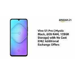 Vivo S1 Pro (Mystic Black, 8GB RAM, 128GB Storage) with No Cost EMI/Additional Exchange Offers