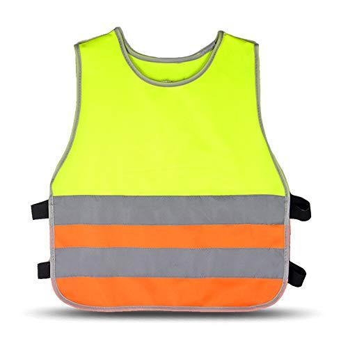 Reflektierender Mantel Sicherheits-Schutzweste Die reflektierende Weste der Kinder unterstreicht die Grundschule der Kinder, die fluoreszierende Kleidung bei Nacht laufen lässt Herren Warnweste