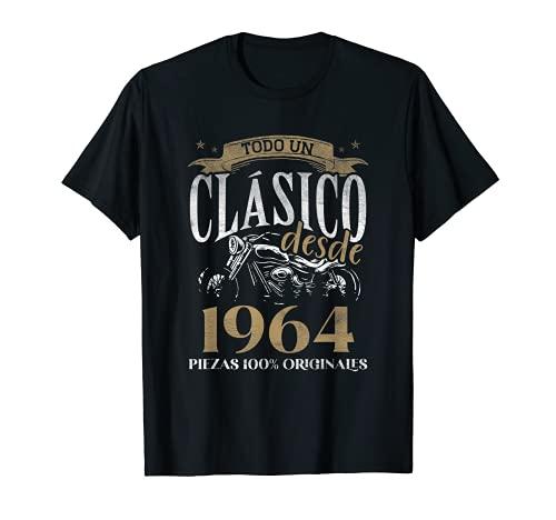 Nacido En 1964 - 57 años Cumpleaños Moto Biker Hombre Motero Camiseta