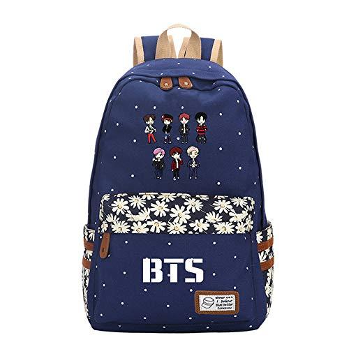 INVER&YANG KPOP BTS Bangtan Boys Casual Bags Cartoon Logo Shoulder Bag Hot Gift for A.R.M.Y