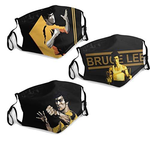Men women face mask washable reusable 3 PCS with 6 Filter Adjustable Elastic ear loops Bruce Lee Kung Fu Jeet Kune Do