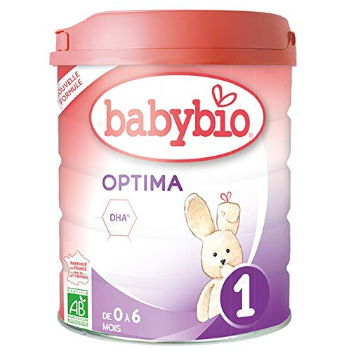Babybio Formule 2020 Premium au Lait de Vache français - Optima 1 800 g - 0-6 Mois - BIO