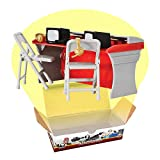 Red & Gray Commentator Table Playset for Wrestling Action Figures