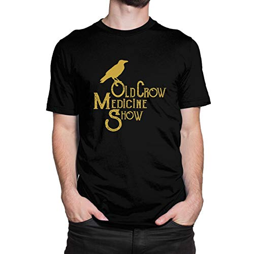 Old Crow Medicine Show T Shirt for Youth & Adult, Lightweight Cotton Tees Top Crewneck Short-Sleeve Shirt Casual Custom Tees Clothing Tops XL Black