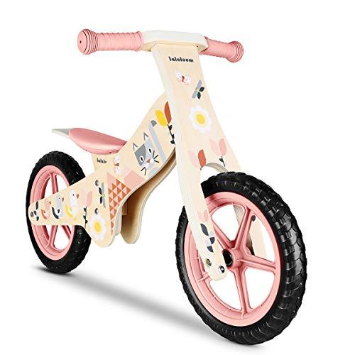 Lalaloom SPRING BIKE - Bicicletta senza pedali bambini in legno colore rosa bicicletta equilibrio...