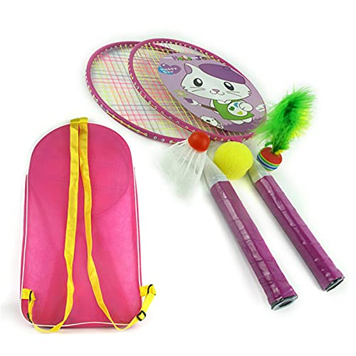 Giocattoli da Badminton per Bambini Shuttlecock Racquet con Badminton Ball Bag Carrying Borsa Indoor Outdoor Team Gioca giochi Giocattoli Racchetta per Badminton per bambini per lo Sport Genitore-figl