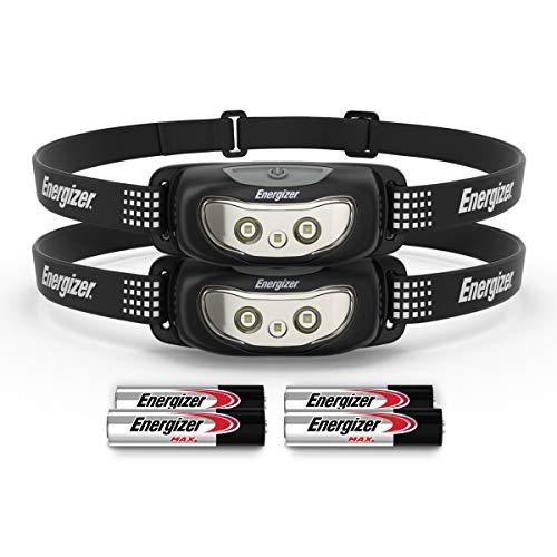 Linterna frontal Energizer Universal Plus, linterna frontal LED de 100 lúmenes, linterna compacta manos libres, linterna de exterior con visión nocturna