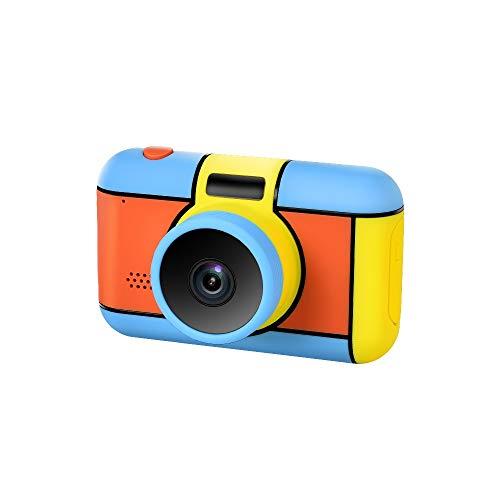 LYQZ De los niños Mini cámara de 2,4 Pulgadas IPS Protección de los Ojos de la Pantalla Grande, Frente Auto-detección de Flash LED, Full HD 1080P portátil cámara de vídeo Digital