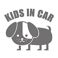 imoninn KIDS in car ステッカー 【パッケージ版】 No.03 コイヌさん (シルバーメタリック)