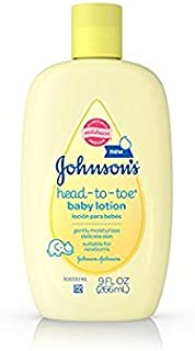 Johnson's Head to Toe Baby Lotion 9oz per Bottle (6 Pack)